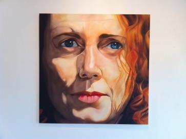 'Rebekah'. 130cm x 130cm x 2cm. 2012. Oil on canvas