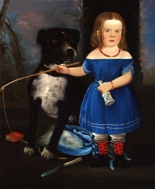 Child in blue with dog || William Matthew Prior